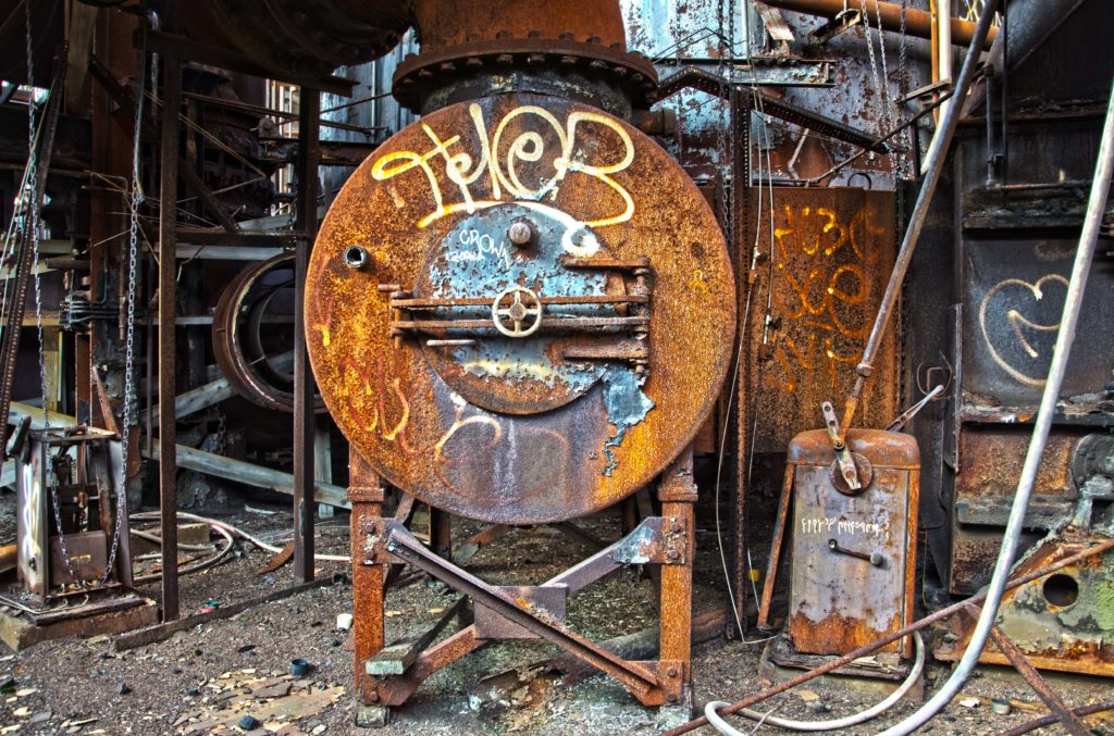 Carrie Blast Furnace equipment - Rankin, Pennsylvania - 2011