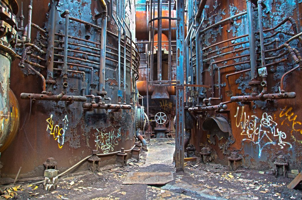Carrie Blast Furnace Pipes and Valves - Rankin, Pennsylvania - 2011
